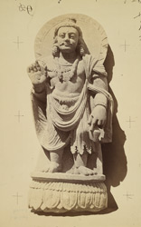 Statue of a king or Bodhisattva from the upper monastery at (?) Nutta or (?) Mian Khan, Peshawar District